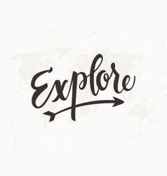 explore hand written lettering vector image