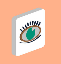eye with eyelashes computer symbol vector image
