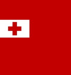 Flag of kingdom of tonga official proportions vector