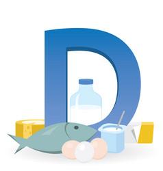 Foods rich in vitamin d vector