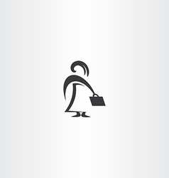 girl with bag business icon woman vector image