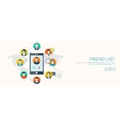Global communication Social vector image