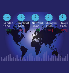 global trading vector image