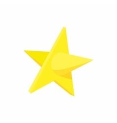 Gold star icon cartoon style vector
