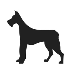 Great Dane Black Silhouette vector