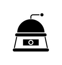 grinder icon black sign on vector image