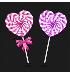 Heart candy vector