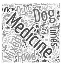 How to administer medicine Word Cloud Concept vector image