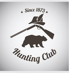 hunting emblem vector image