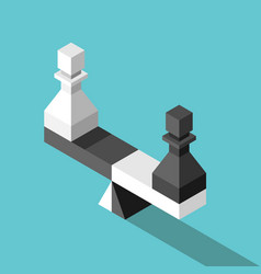 isometric scales weighing pawns vector image