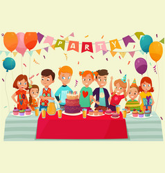 kids party poster vector image