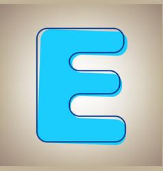 Letter e sign design template element sky vector