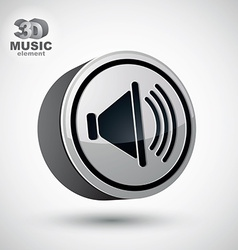 Loudspeaker icon 3d design element vector image