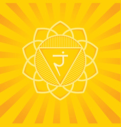 manipura - energy center third primary chakra vector image