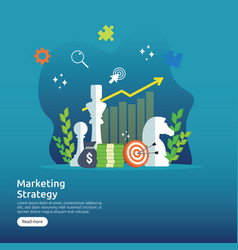 marketing strategy business finance analysis vector image