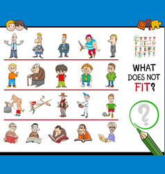 Mismatched picture in a row cartoon game vector