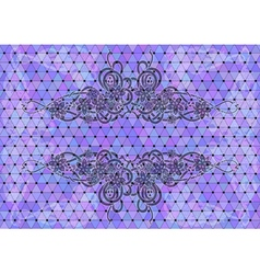 Mosaic background with floral ornament vector image