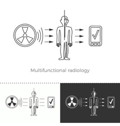 Multifunctional radiology and full-body screening vector image