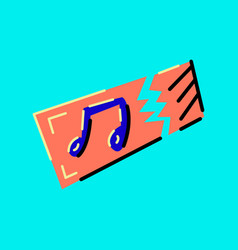 music ticket colored vector image