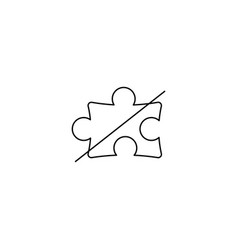 no puzzle line icon vector image
