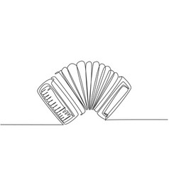 one continuous line drawing classic accordion vector image
