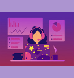 online conference concept in flat style vector image