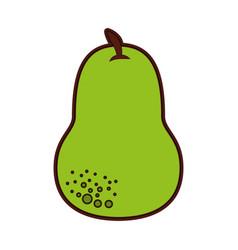 Pear fresh fruit icon vector