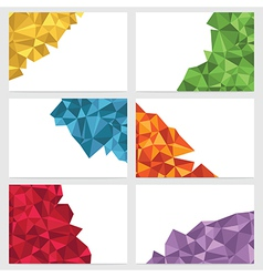 Polygon banners vector
