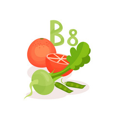products with vitamin b8 inositol green peas vector image