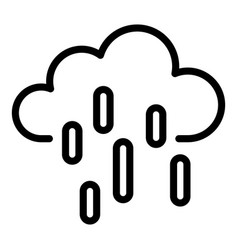 rainy weather icon outline style vector image