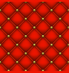 Red background from quilted fabric vector