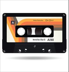Retro vintage cassette tape isolated white vector