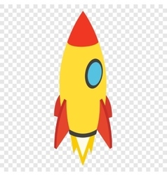 Rocket isometric 3d icon vector image