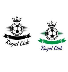 Royal football or soccer club symbol vector image