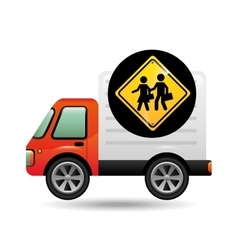 School warning traffic sign concept vector