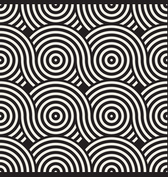 Seamless rounded lines texture modern vector