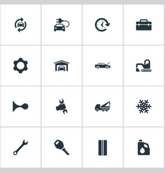 Set simple vehicle icons vector