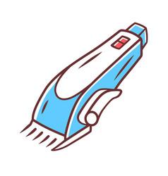 Shaving machine color icon haircutting procedure vector