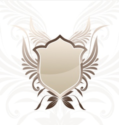 Shield Brown Decorative vector image