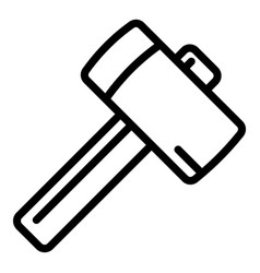 Sledge hammer icon outline style vector