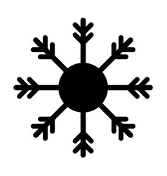 snowflake black icon isolated vector image