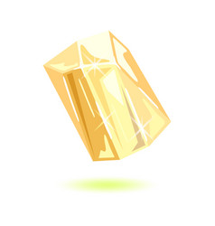 Sparkling transparent topaz polished yellow vector