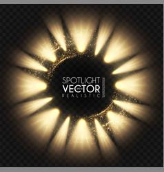 Spotlight banner transparent light effect show vector