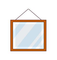 Square mirror cartoon vector