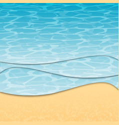 summer sea beach vector image