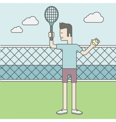 Tennis player man vector image