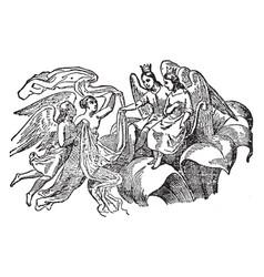 thumbelina vintage vector image