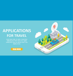 travel apps isometric vector image