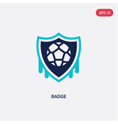 two color badge icon from football concept vector image