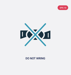 Two color do not wring icon from signs concept vector